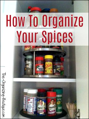 How To Organize Your Spices Using Turntables | The Organizing Boutique.com