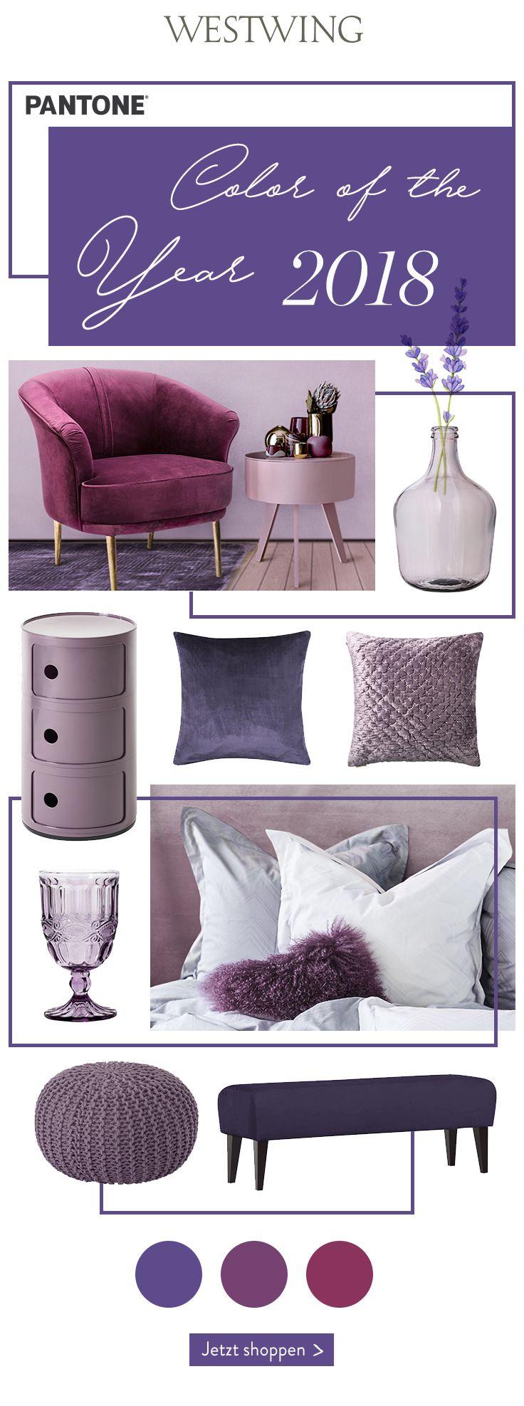 Innenarchitektur wohnzimmer lila pantone color  ultra violett die trendfarbe des jahres steht