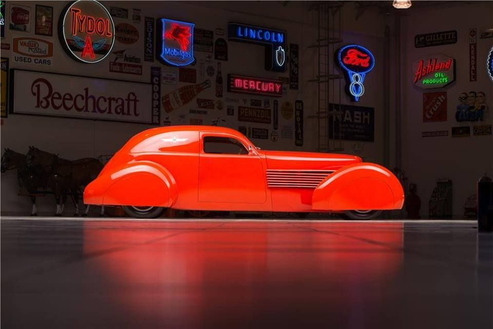 In 1937, Cord Westchester were noted for being innovative, rolling out things like front-wheel drive, and that sleek Art Deco styling that will always be classic. You'll never see one converted to a full on hot rod...except for this one. http://www.supercompressor.com/rides/the-best-cars-for-sale-at-the-barrett-jackson-ron-pratte-auction