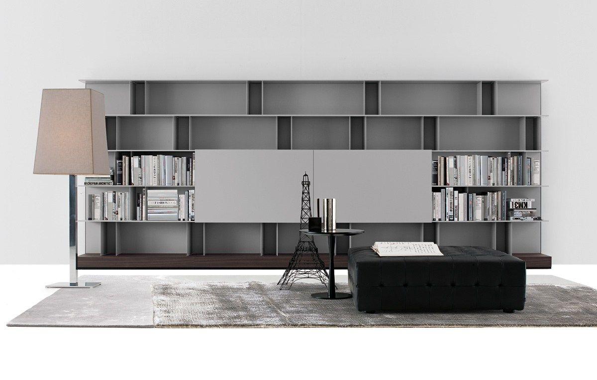 Mueble Modular De Pared Modular De Madera Con Soporte Para Tv Skip  # Mueble Soporte Tv Diseno