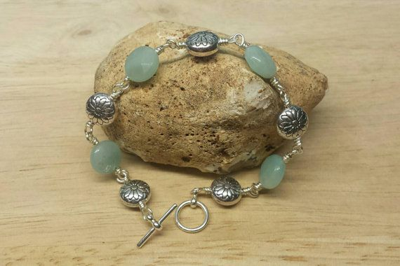 Pale green Amazonite bracelet. Virgo jewelry. by empoweredcrystals