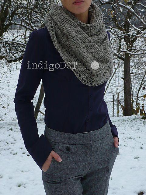 crochet libre patrón carenado infinito | bufanda | Pinterest ...