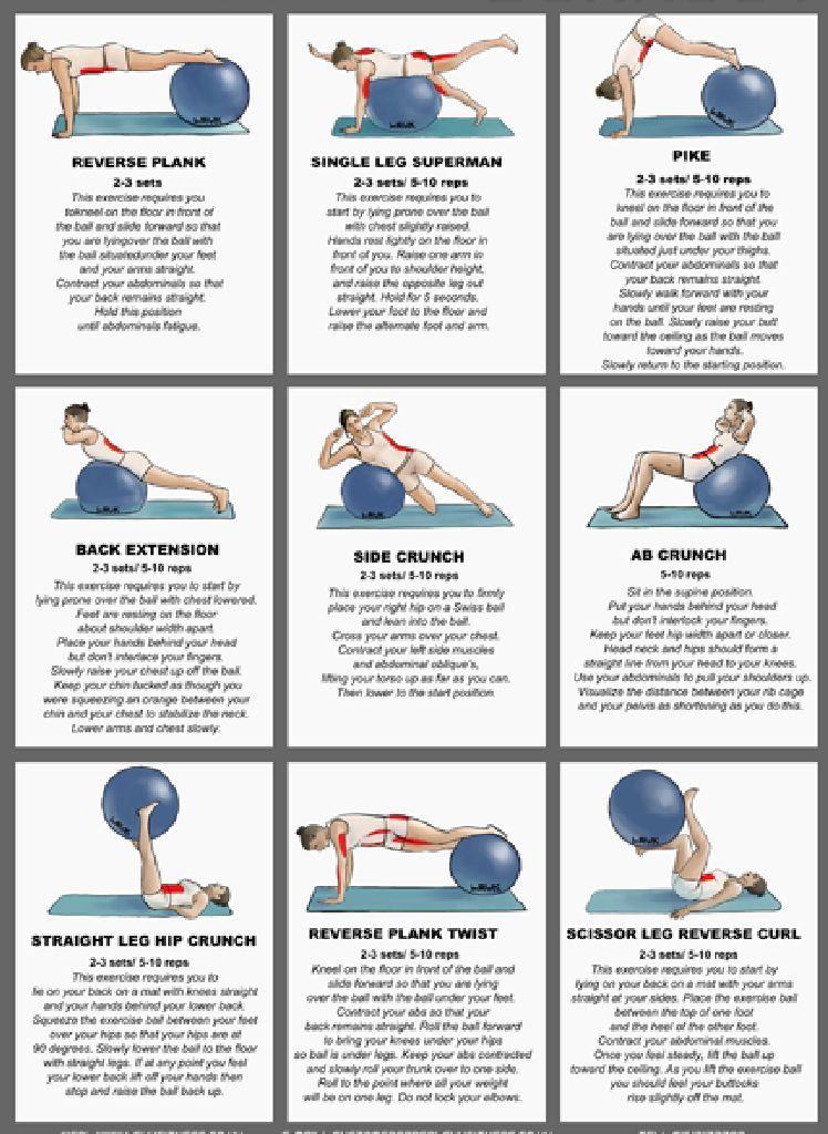 Más  ejercicios de  core con  fitball!  73431376aacc