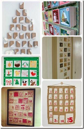 Make your own Advent calendar ideas, tutorials and DIY A DIY