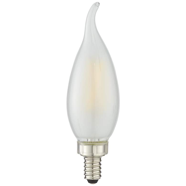40w Equivalent Milky 4w Led Dimmable Flame Candelabra Bulb 46e99 Lamps Plus In 2020 Candelabra Bulbs Candelabra Bulb