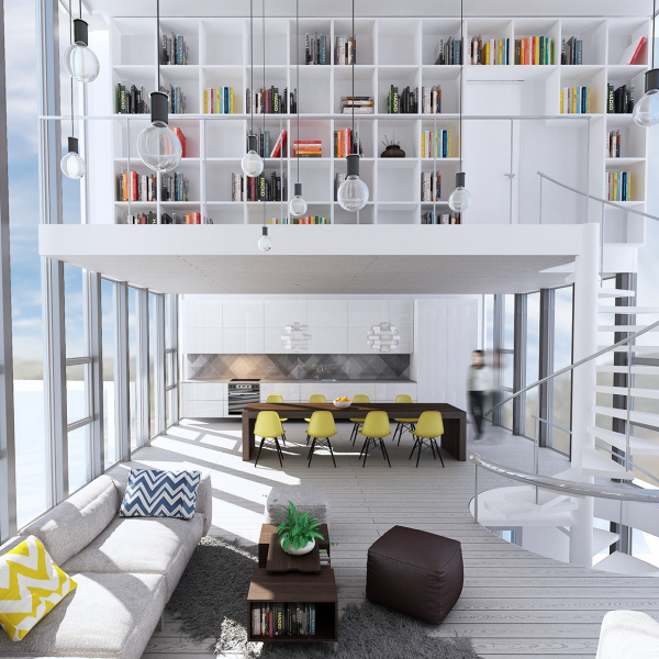 Homedesigning via wondrous white three lofts with clean bright interiors