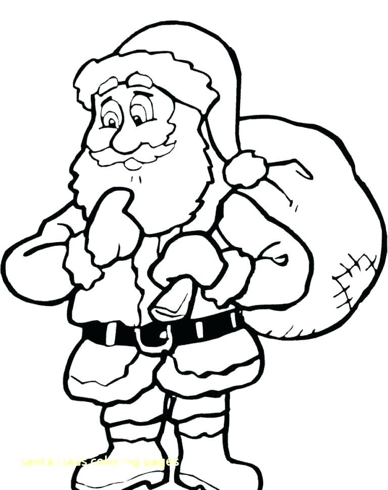 Santa Claus Coloring Pages For Preschoolers Santa Coloring Pages Cartoon Coloring Pages Christmas Tree Coloring Page
