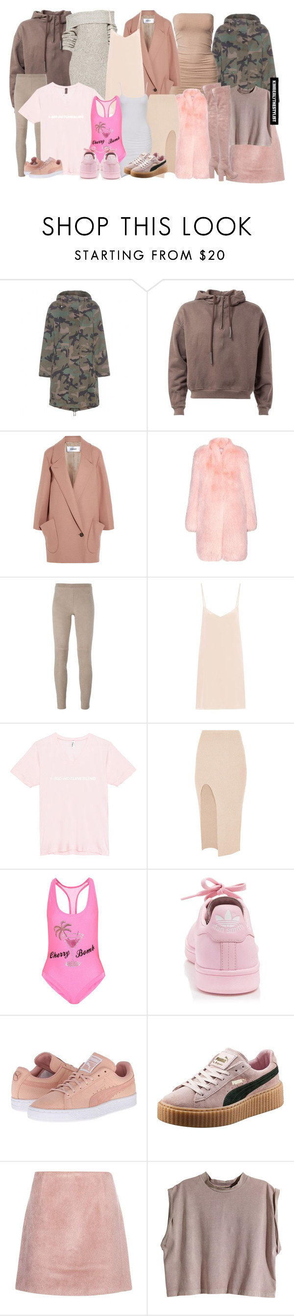 """""""Untitled #2269"""" by whokd ❤ liked on Polyvore featuring Valentino, Chalayan, Altuzarra, Steffen Schraut, Raey, Maurie & Eve, Filles à papa, adidas, Puma and Acne Studios"""