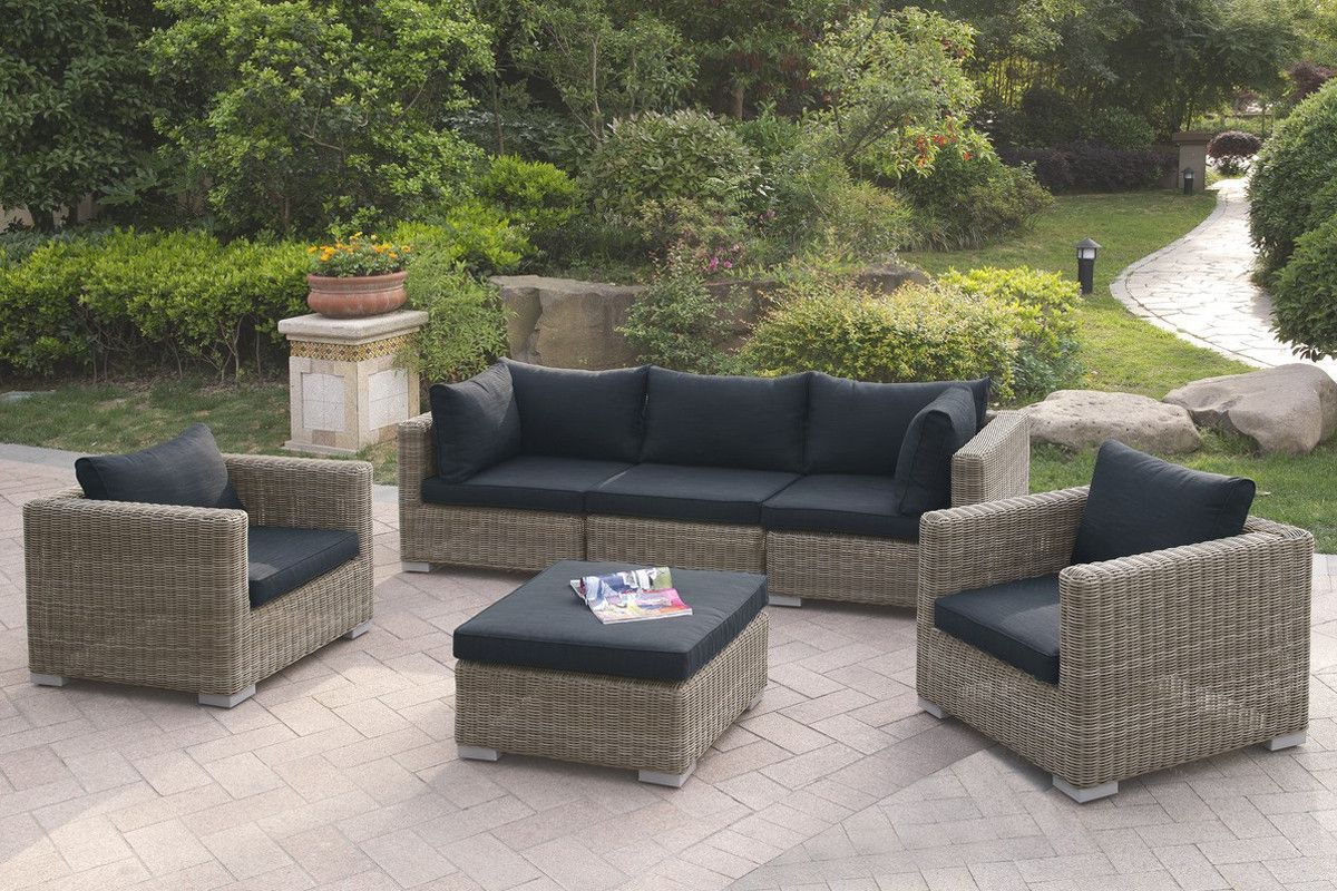 6pcs Outdoor Patio Sofa Set With Images Patio Sofa Set Patio
