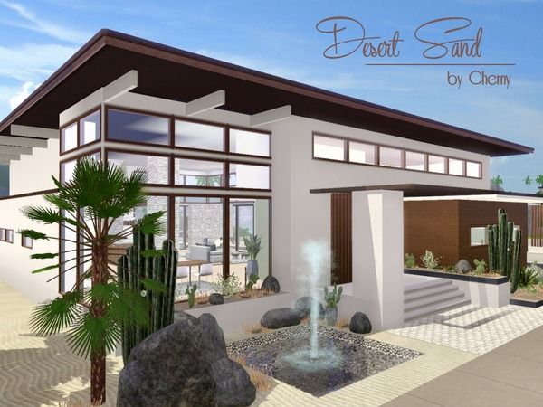 sweet custom design homes. Desert Sand house by Chemy  Sims 3 Downloads CC Caboodle