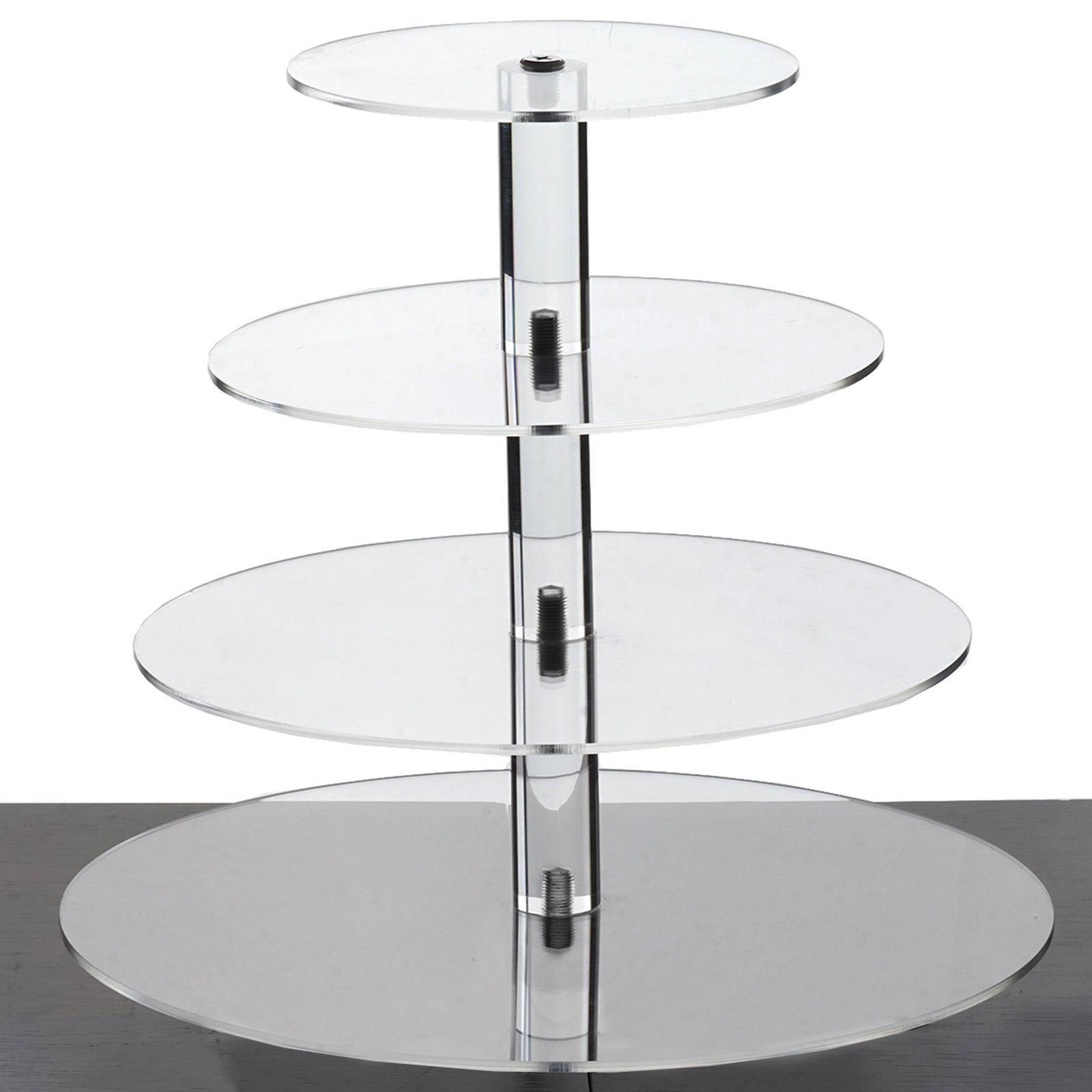 4 Tier 12 Round Acrylic Cake Stand Tiered Cupcake Stand