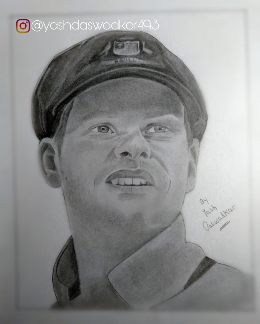 Steve smith sketch by yash daswadkar
