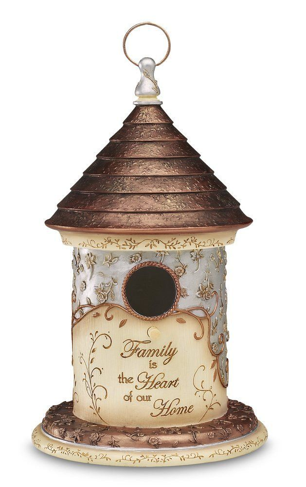 Birdhouse Figurine Family is The Heart of Our Home