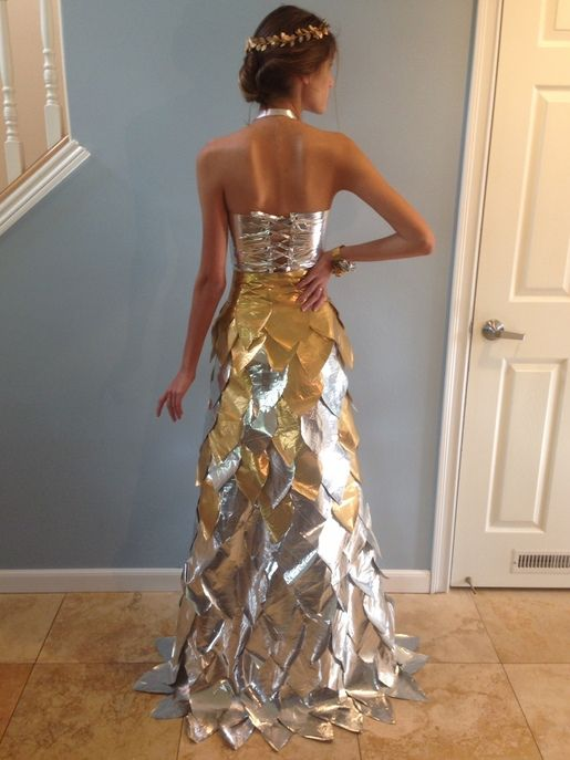 how to make a duct tape dress for abc party