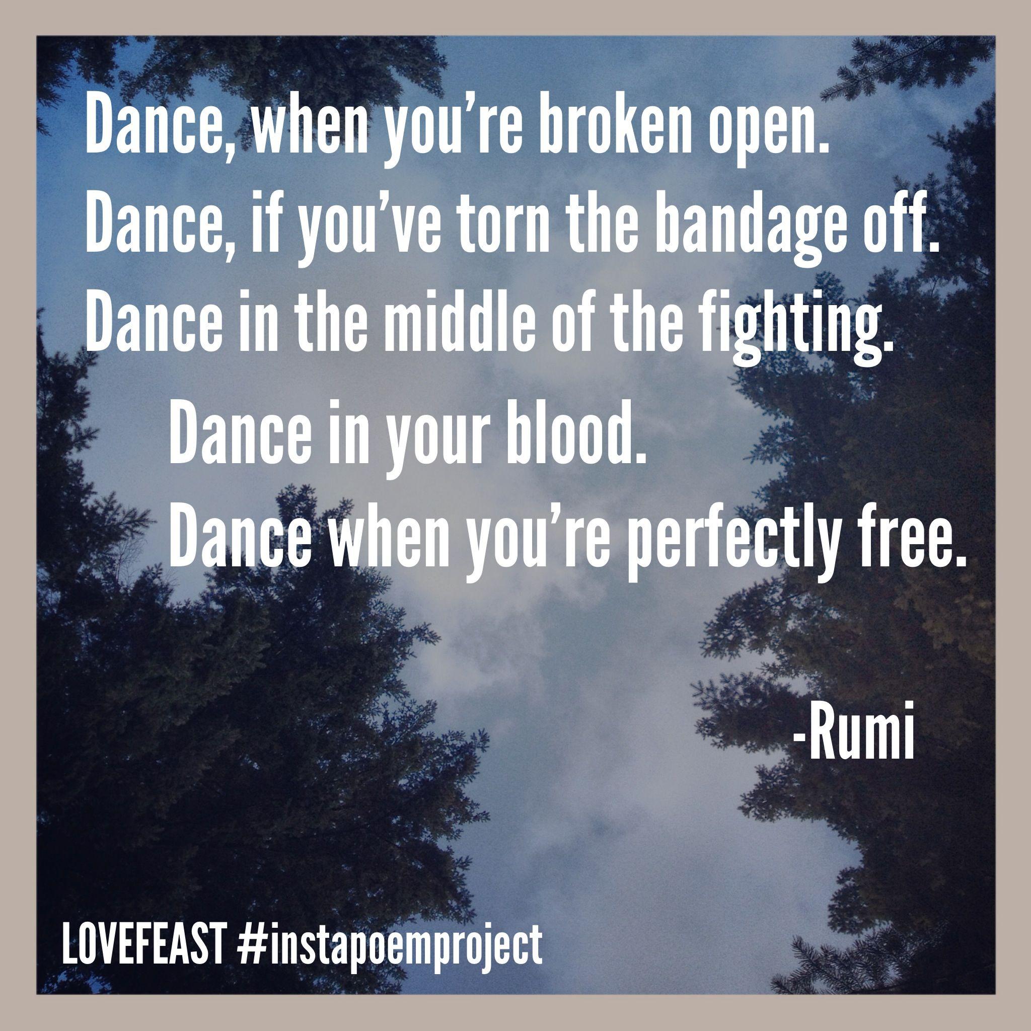 Dance Rumi National Poetry Month Instagram Instapoemproject