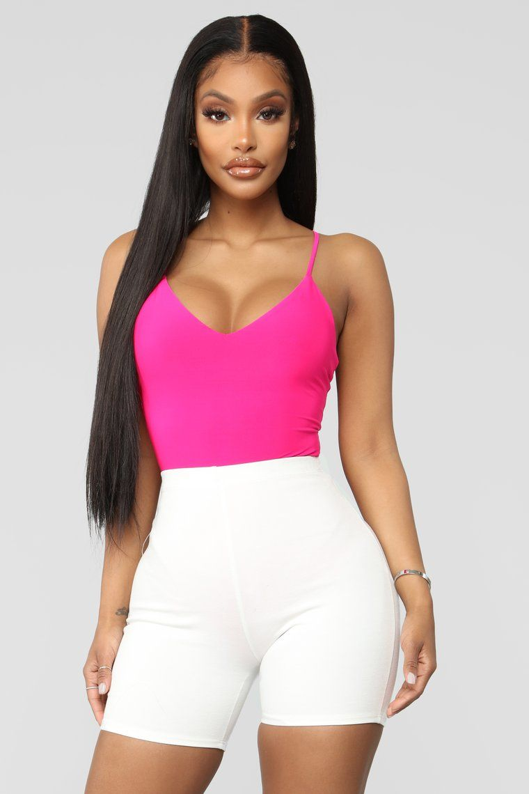 a1752d8662c0b1 Here To Stay Bodysuit - Neon Pink in 2019