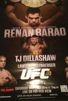 Ufc 173 Renan Barao Vs Tj Dillshaw Lawler Vs Ellenberger Poster Print Mgm Ufc Mgm Ufc Fight Night