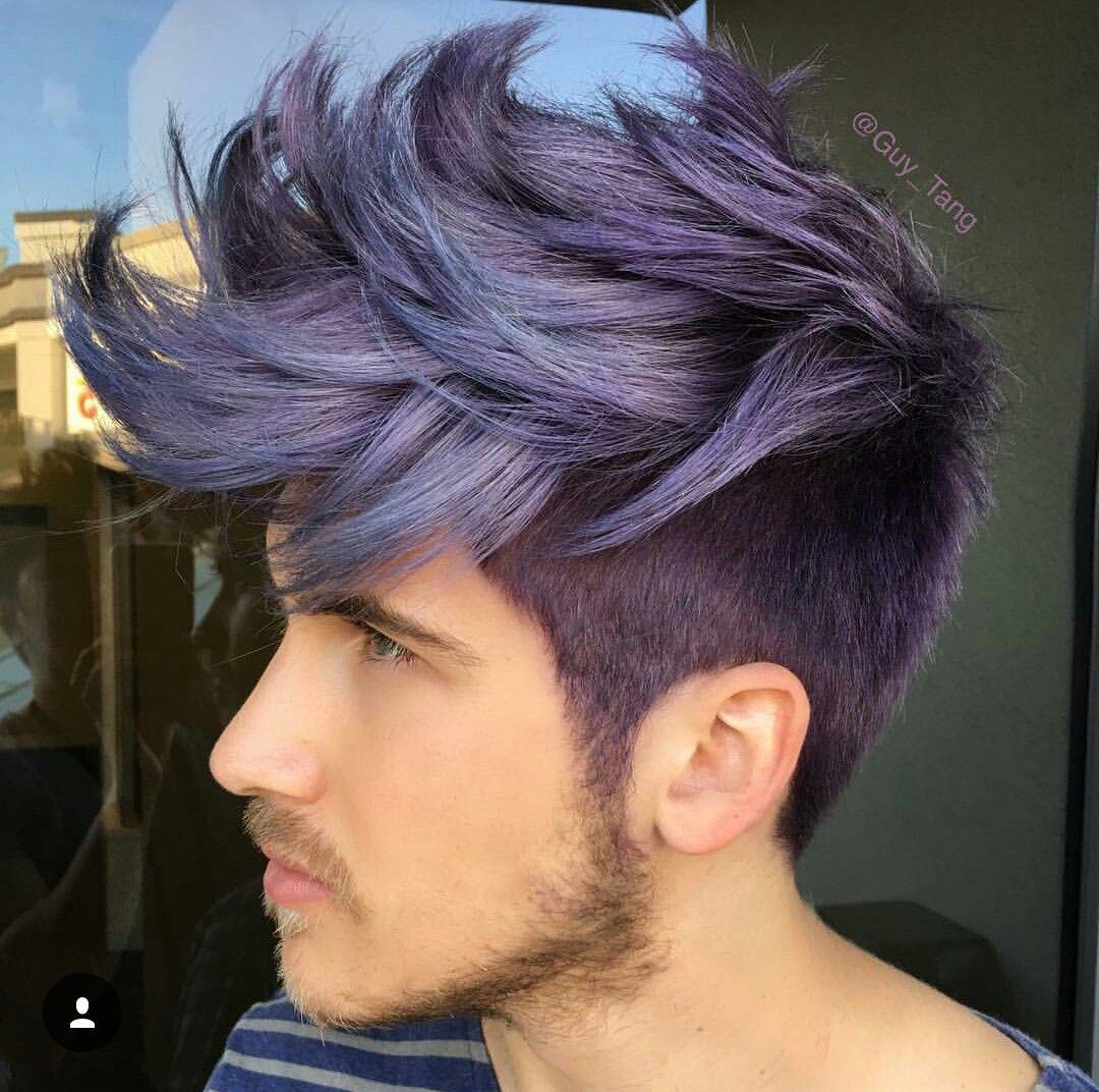 Joey Graceffa S New Hair Color And It S My Favorite Color Metallic Hair Dye Spiked Hair Metallic Hair