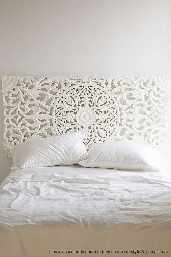 Carved Wood Headboard, Wall Art Panel or Wall Hanging. A Unique ...