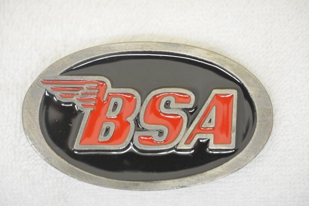 Bsa Birmingham Small Arms Company Logo Motorcycle Cycle Vintage Belt Buckle Insignias Motos