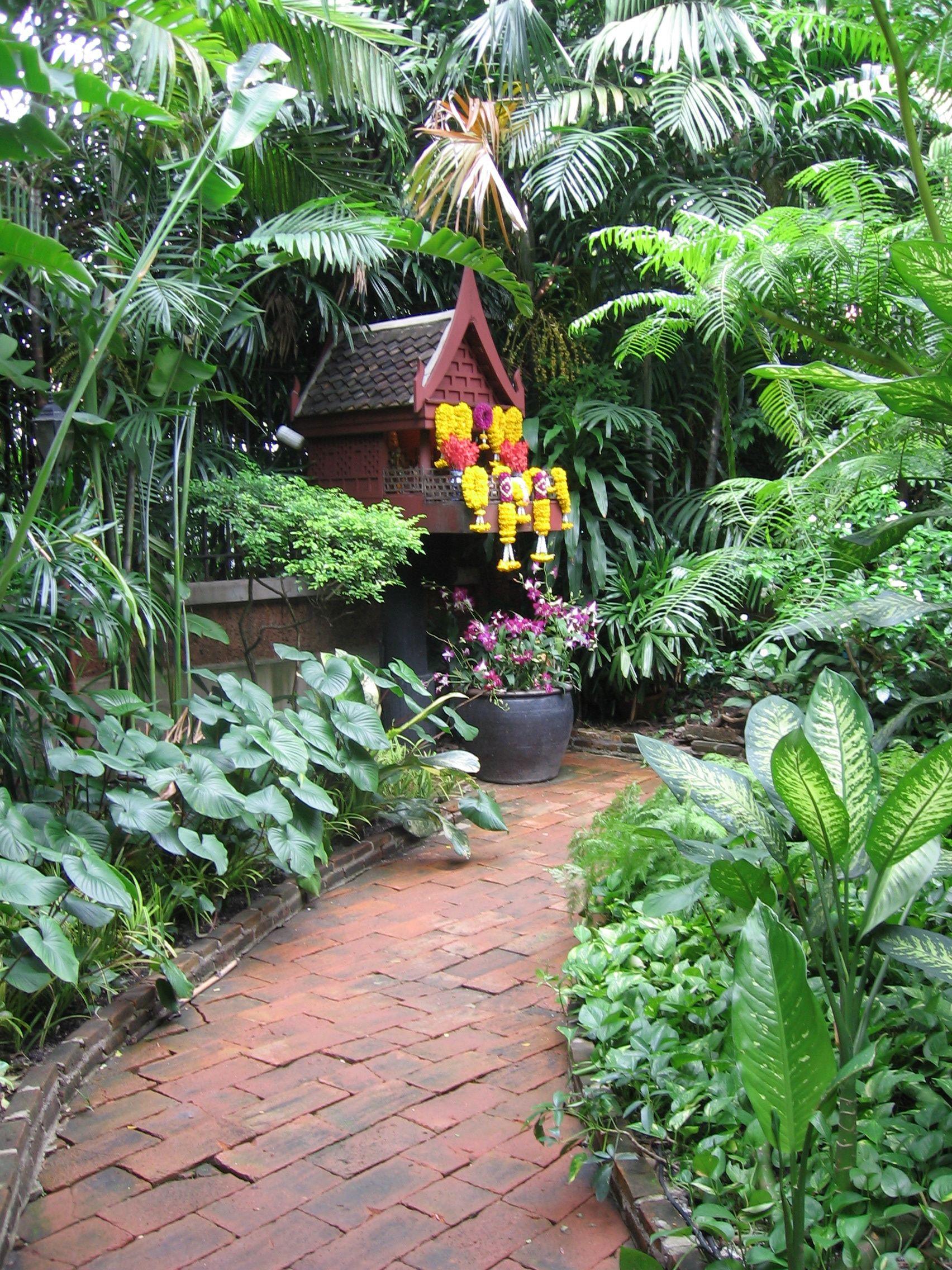 Bangkok, Thailand. Jim Thompson House Garden.