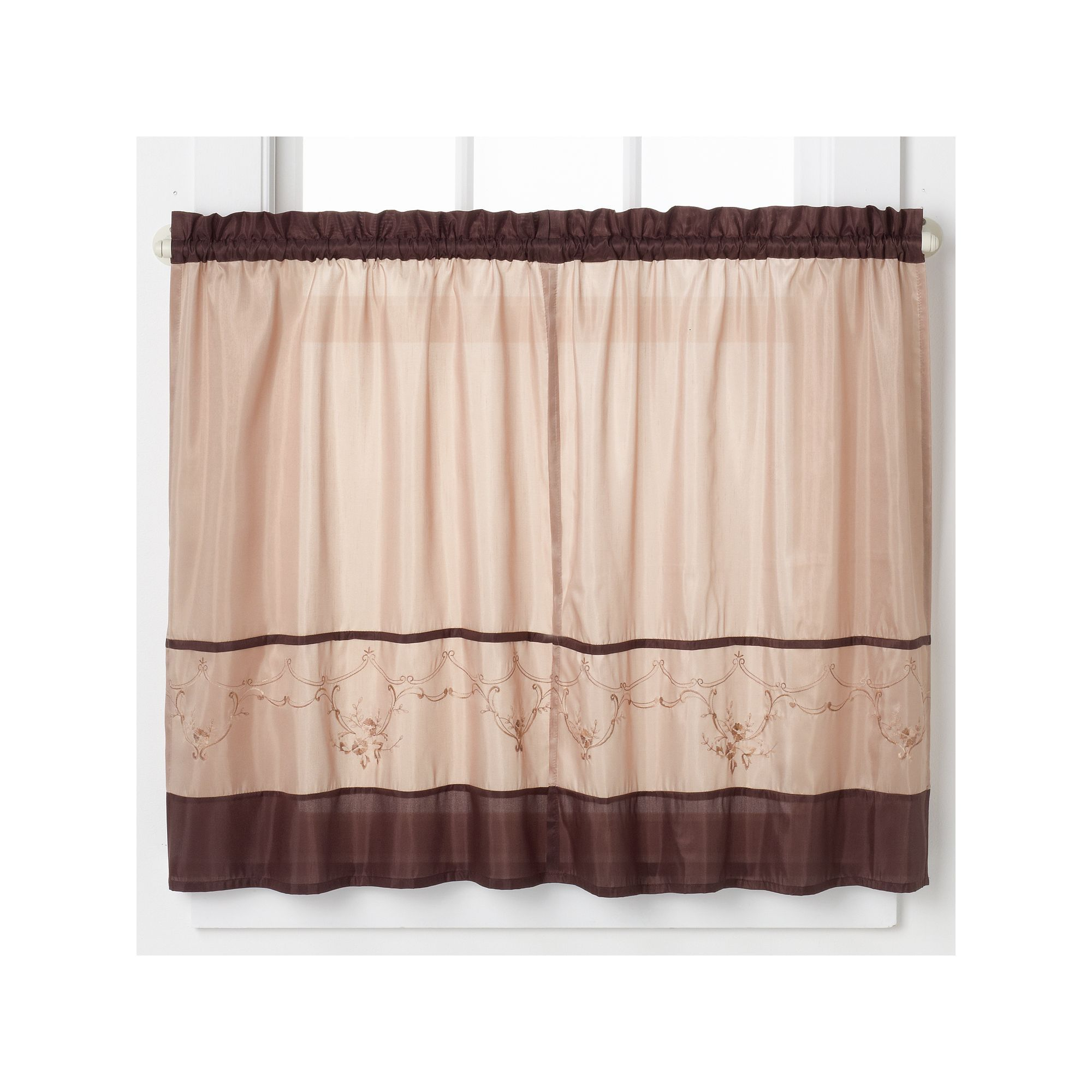 beautiful Brown Tier Curtains Part - 17: Tailored Tier Curtains, Brown
