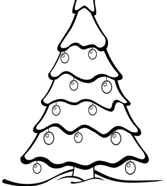 Buon Natale Alberi Di Natale Da Stampare E Colorare Disegni Di Una