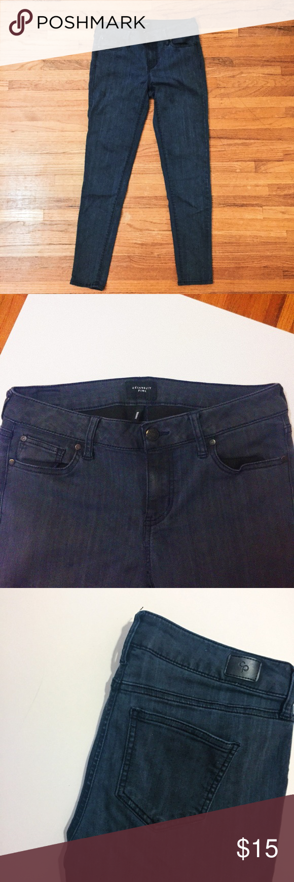 e6d1f91c35da2 Celebrity Pink Skinny Jeans Stretchy and comfortable fit it s more of a  jegging and the color is a dark blue waist   28 size 9 Celebrity Pink Pants  Skinny