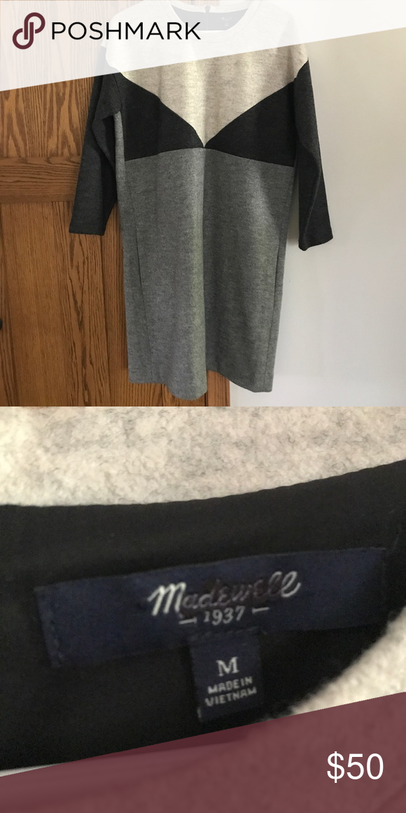 1f11edf5db2 Madewell Colorblock Sweater Dress Good used condition. Purchased on Posh  and never wore. Madewell Dresses Midi