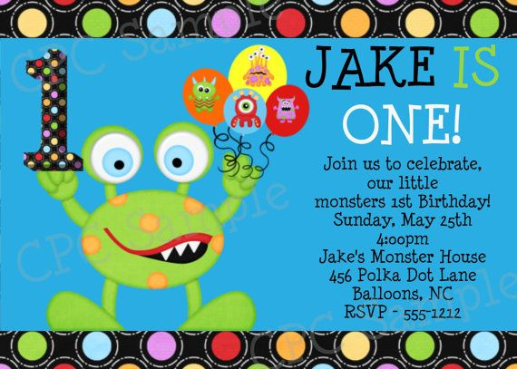 monster birthday invitation little monster birthday party invitations printable or printed - Monster Birthday Party Invitations