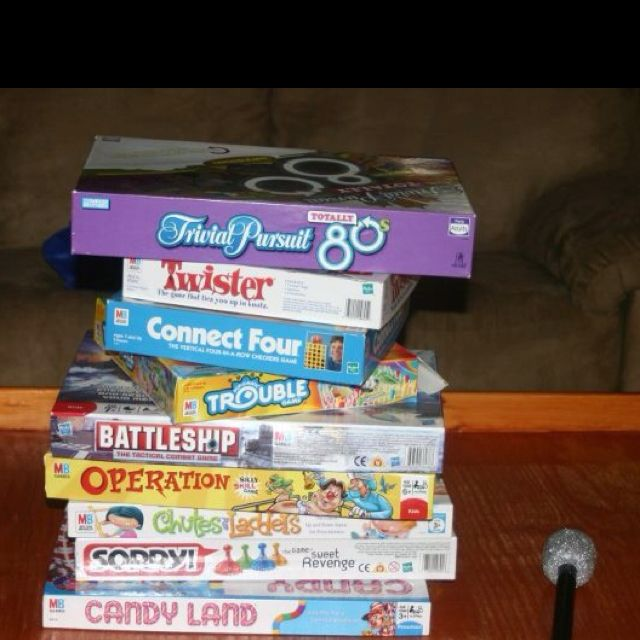 We Had Lots Of Board Games From The 80's For The Party! We
