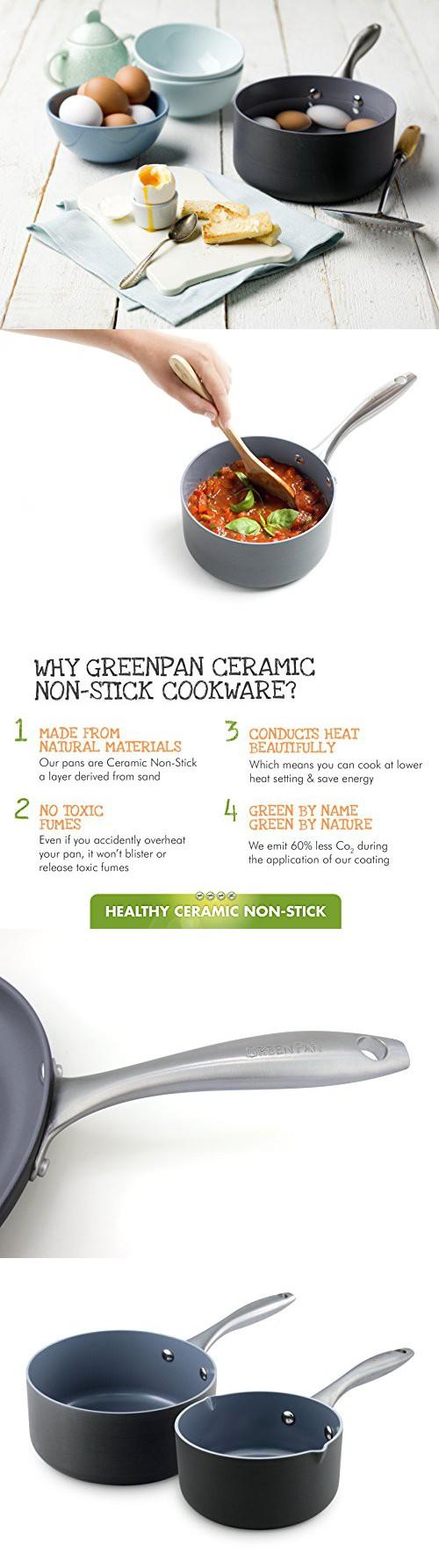 Cookware gt see more select by calphalon ceramic nonstick 8 inch an - Greenpan Lima 2 Piece Ceramic Non Stick Sauce Pan Set