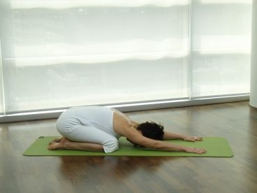 childs pose such a great easy way to relax destress