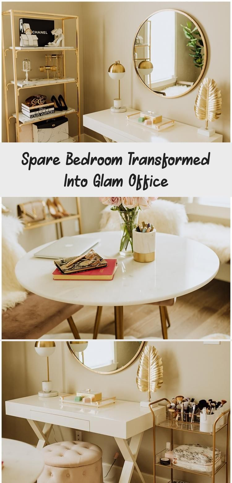 Spare Bedroom Transformed Into Glam Office World market