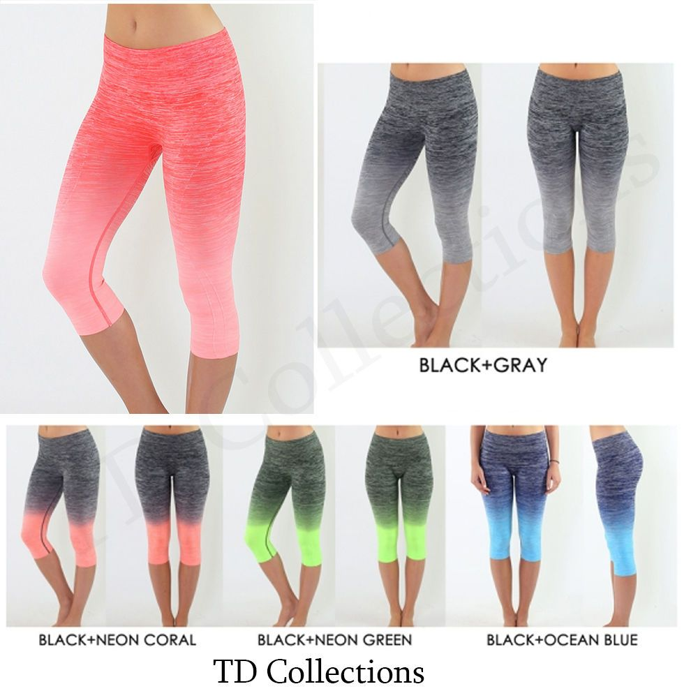 7a01d28c14 Women Capri Cropped Leggings Yoga Pants for Gym Fitness Workout Wear S M L  XL #TD #PantsTightsLeggingsYogaGym