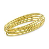 five gold bracelets