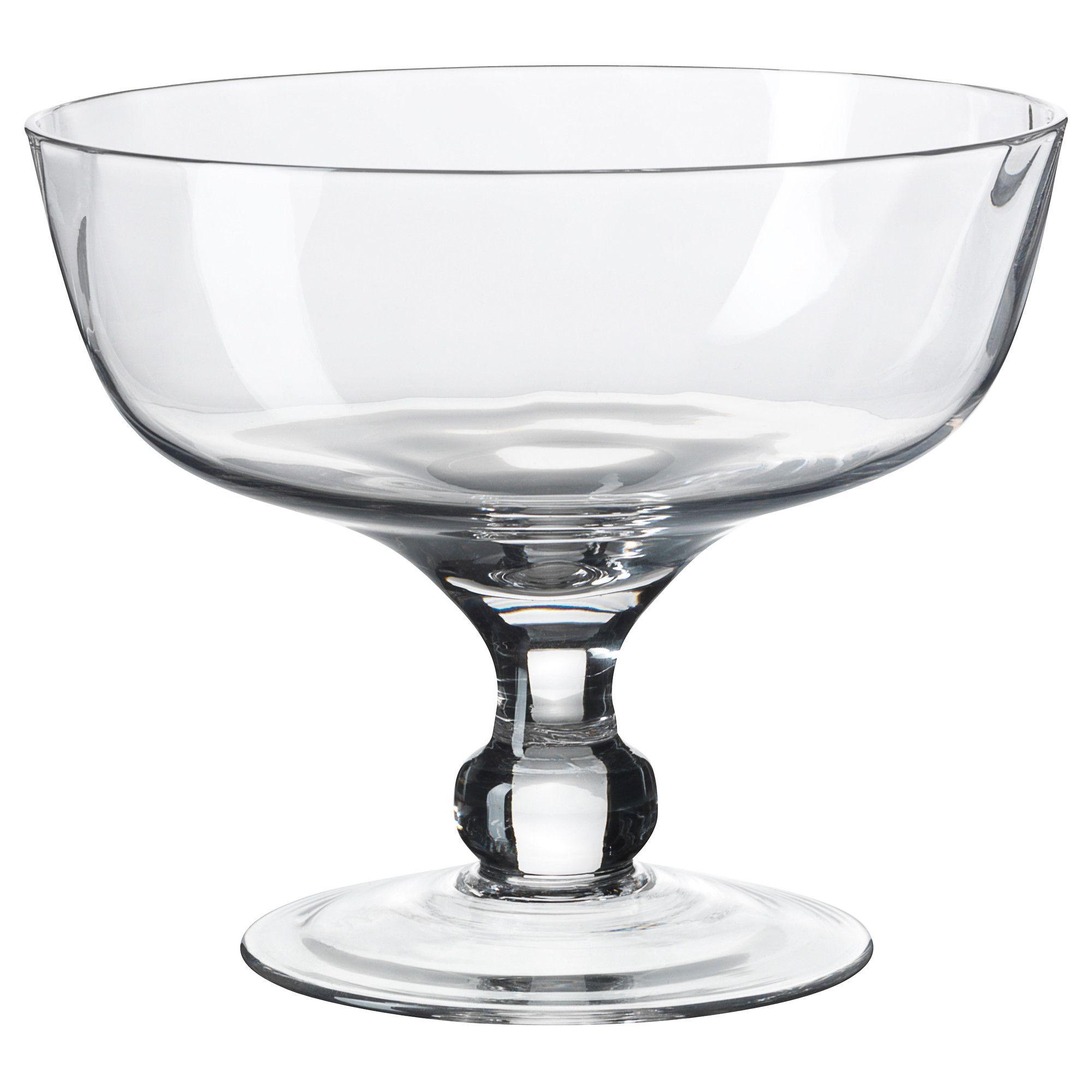 Ikea 365 Glass Clear Glass Tiramisu Bowls And Glasses