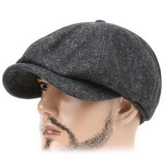 988435750b2 Beret MNP dark GRAY Flat Cap Cabbie Gatsby Driving Hat Golf Baggy ...