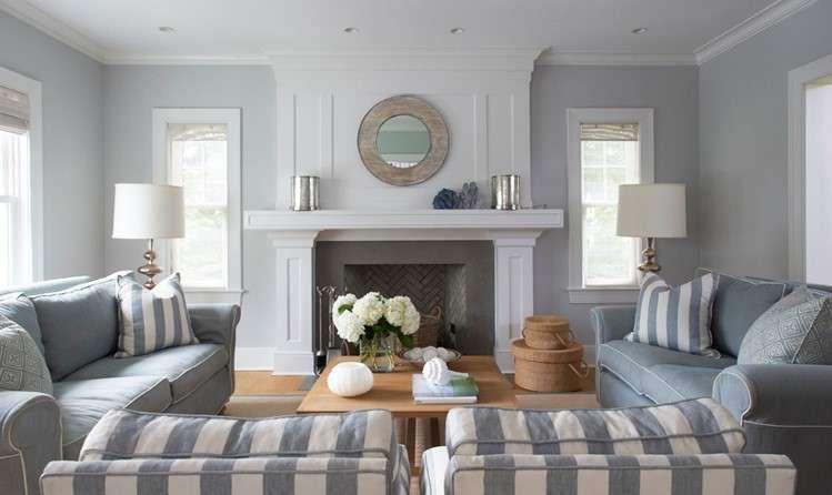 Come arredare il soggiorno con il grigio - Soggiorno con parete ...