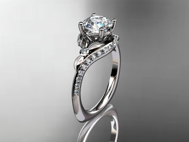 platinum diamond leaf and vine wedding ringengagement ring the wedding mile - Leaf Wedding Ring