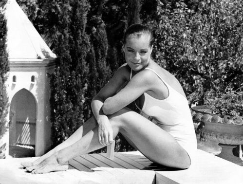 Wedding Inspiration 10 Icons In White Swimsuits Romy Schneider