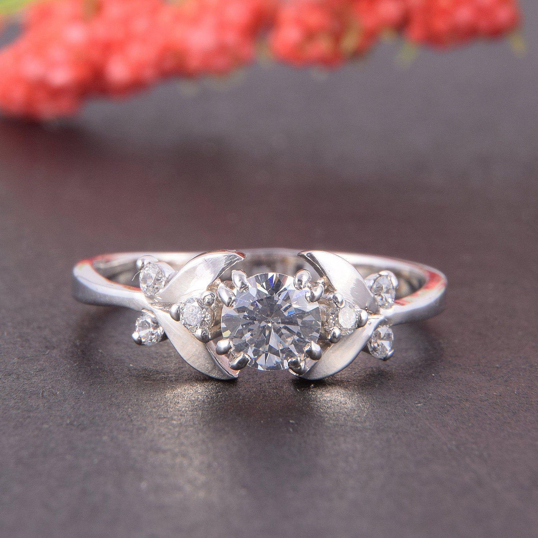 Art Deco Engagement Ring, Women Engagement Ring, Antique