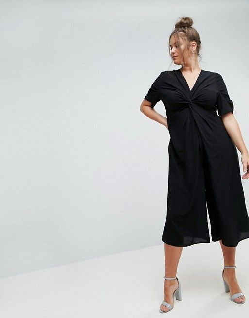 0eb88605081 CURVE Tea Jumpsuit with Knot Front in 2018