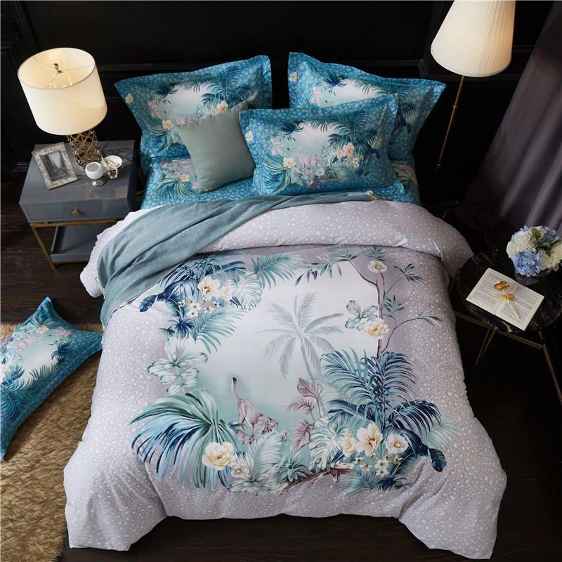 100 Cotton King Size Queen Bedding Set Duvet Cover Bed Sheet Fitted Sheet Bed Set Pillowcases Ropa De Cama Parure De Lit Duvet Bedding Sets Queen Bedding Sets Bed 100 cotton king size sheets