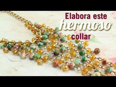 5491636a5299 Como hacer un collar murano cascada Kit 23169 - YouTube Cómo Hacer Aretes