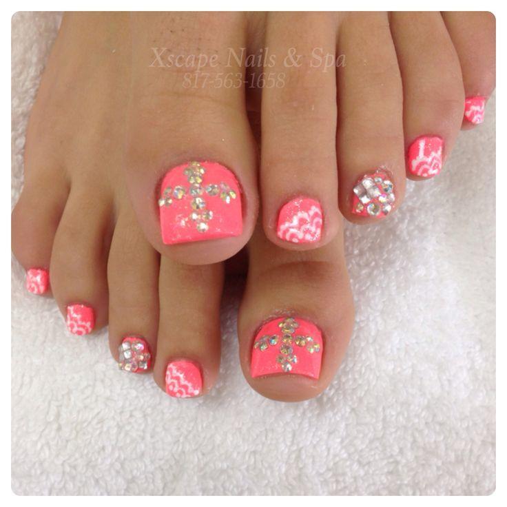 rhinestone nails nail art