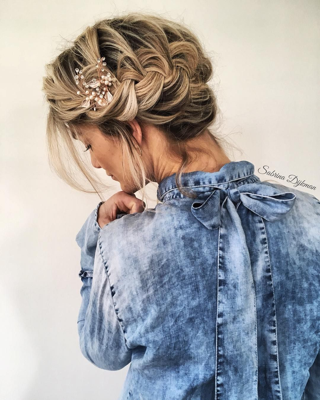 Pretty Braided Updo For Boho Bride - Fabmood | Wedding Colors ...