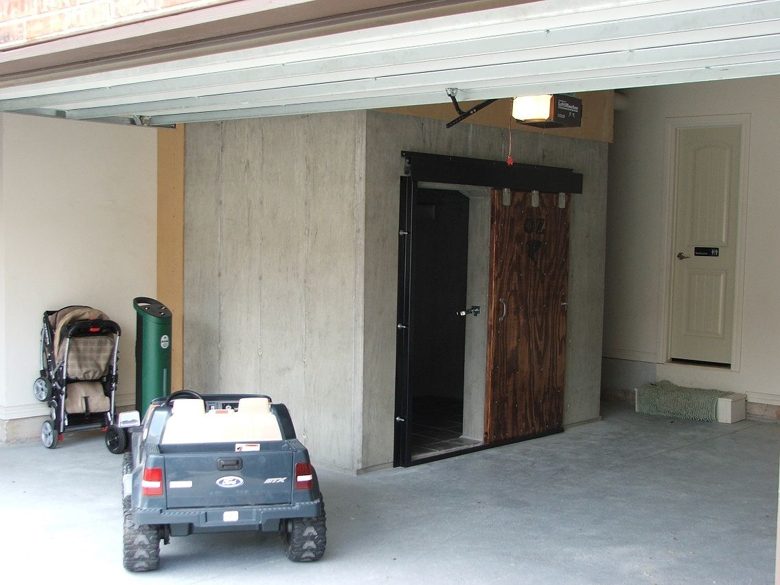 Garage safe room for Garage safe room