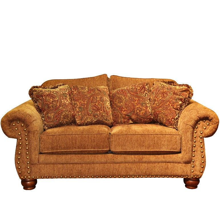 Mayo Impressive Umber Loveseat Sofa Couch Gallery Furniture