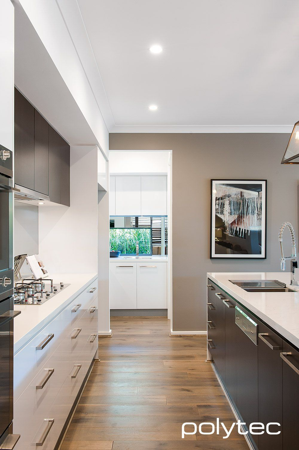 Melamine Doors In Classic White Sheen And Black Wenge Matt Kitchen Inspiration Design Kitchen Renovation Inspiration Modern Kitchen Design